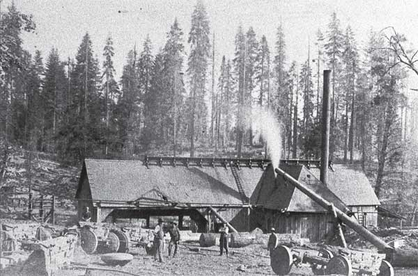 Mill #4 - Mill was located at the current campground - Photo: Hawksworth Library